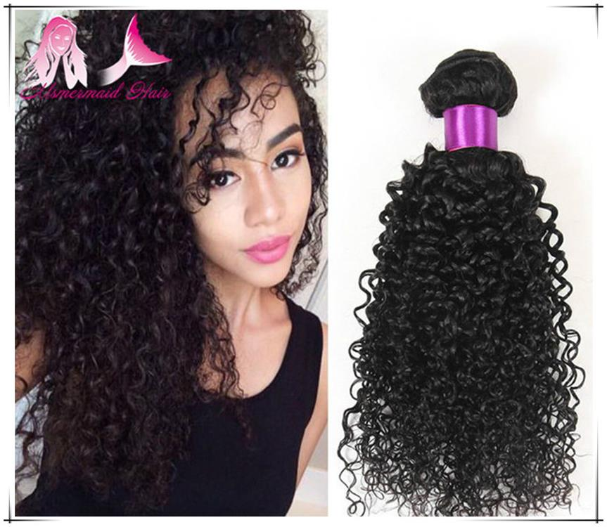 Natural Color Virgin Raw Unprocessed 100% Brazilian Hair Kinky Curly Human Hair Extensions