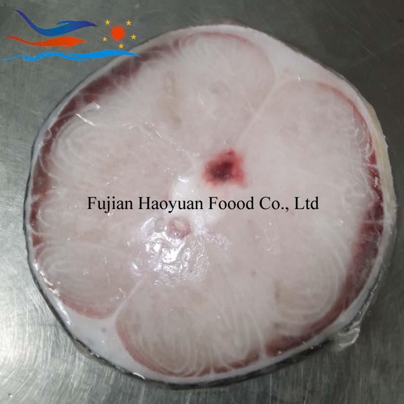 frozen blue shark steak with skin