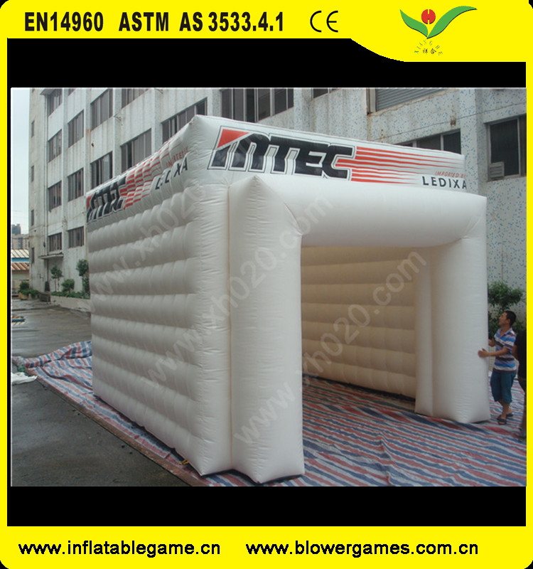 Large outdoor inflatable lawn event advertising tent