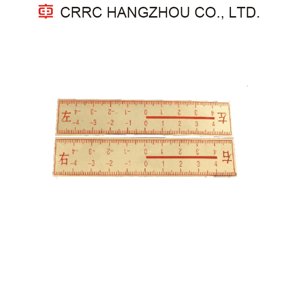 Railroad rail observation gauge Left and right ruler CRRC