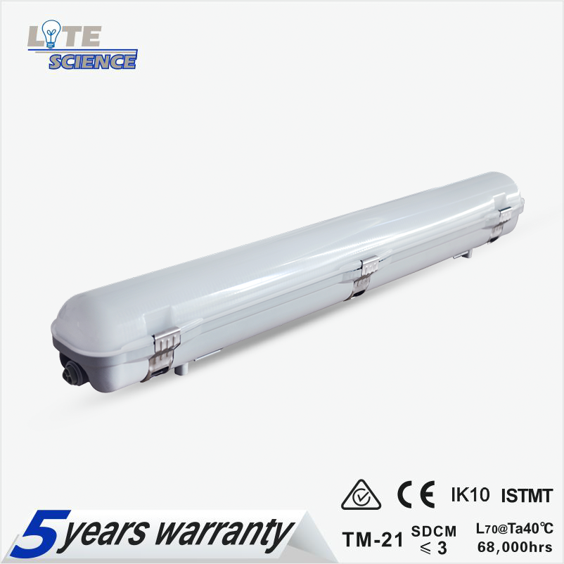 IP65 Led Vapourproof light 2ft 4ft 5ft Parking Lot/Warehouse lighting