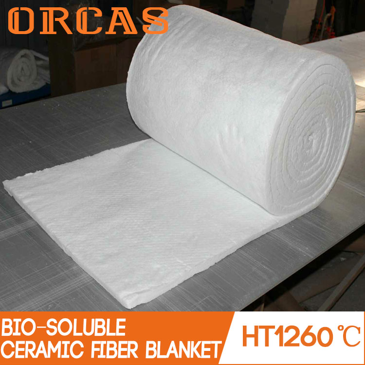 Environmental friendly insulation bio-soluble ceramic fiber blanket