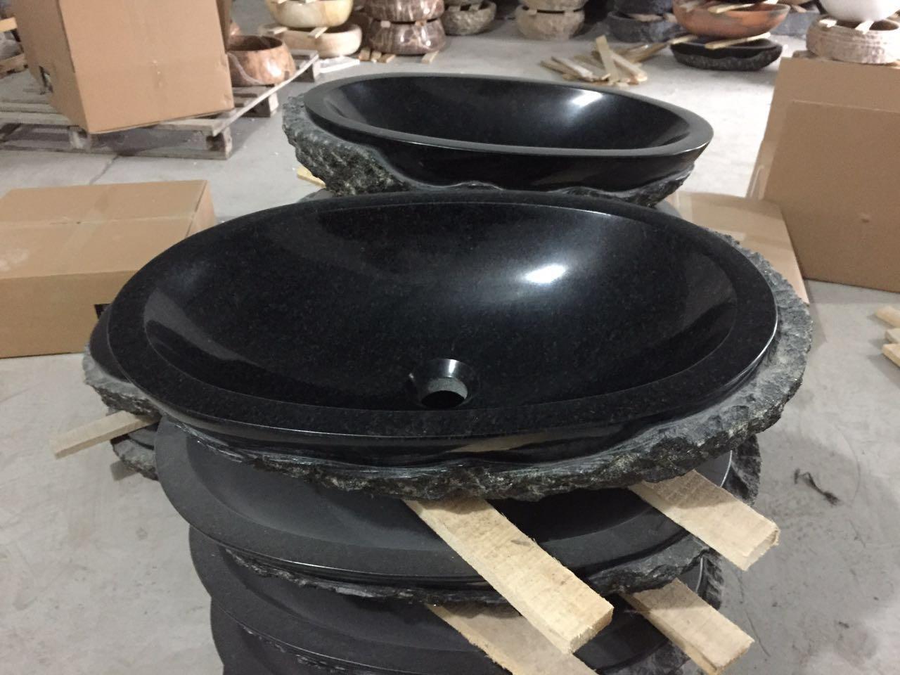 black granite bathroom sinks, granite sinks, granite vessel sinks