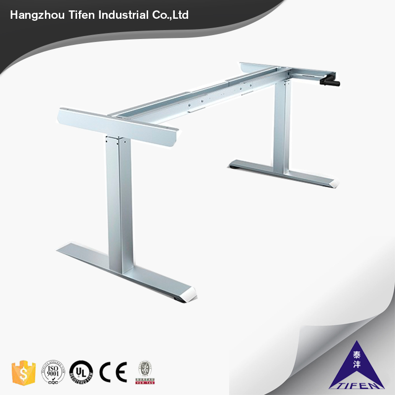hand crank office adjustable desk for office