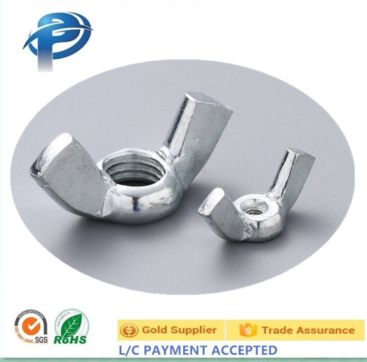 Hot sale Zinc plated carbon/stainless steel butterfly nut wing nut