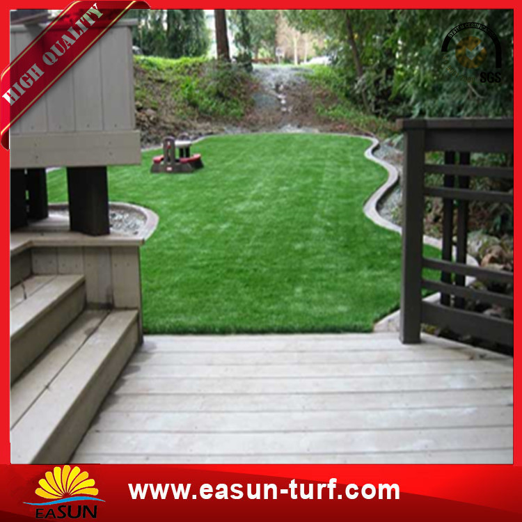 Fire Resistant Sturdy Anti-UV PP PE yarn Fake Synthetic Turf Artificial Grass For soccer-Donut