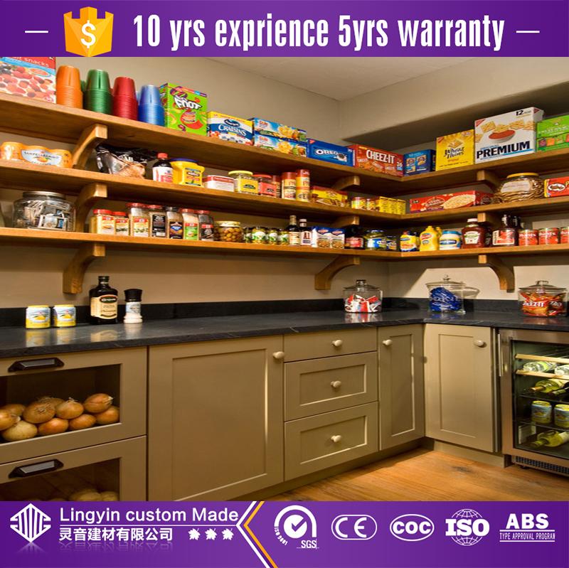 wood cabinet storage and kitchen organizer