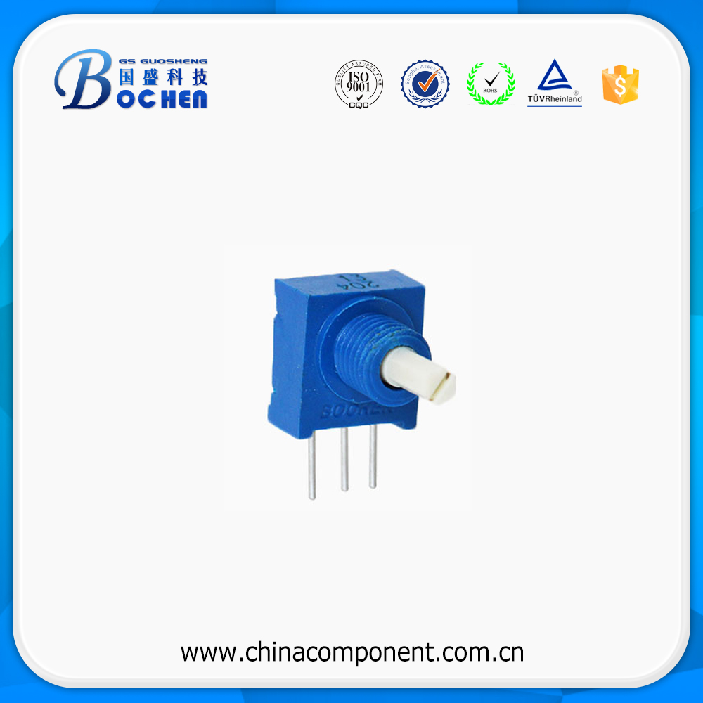 5mm square dipped industrial sealed cermet trimming potentiometer 3386P-3 with knob