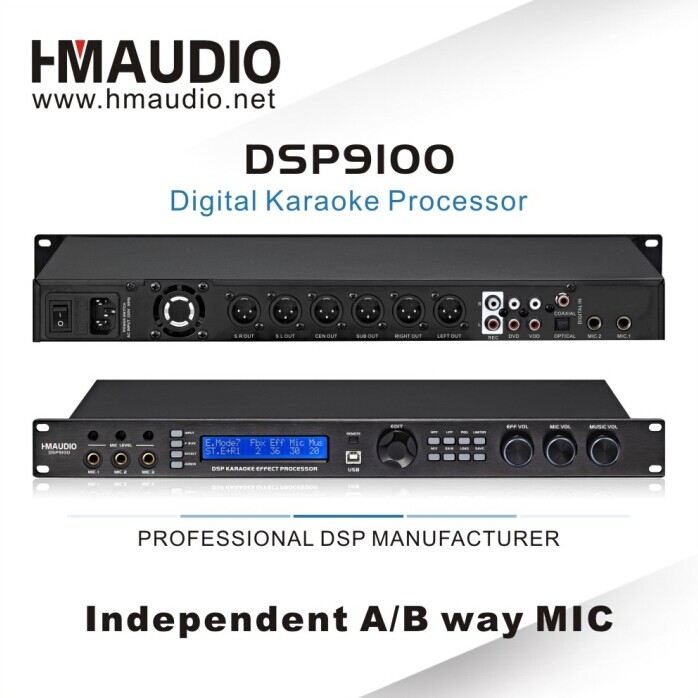 DSP9100 Professional Digital Processor With Key Control Function
