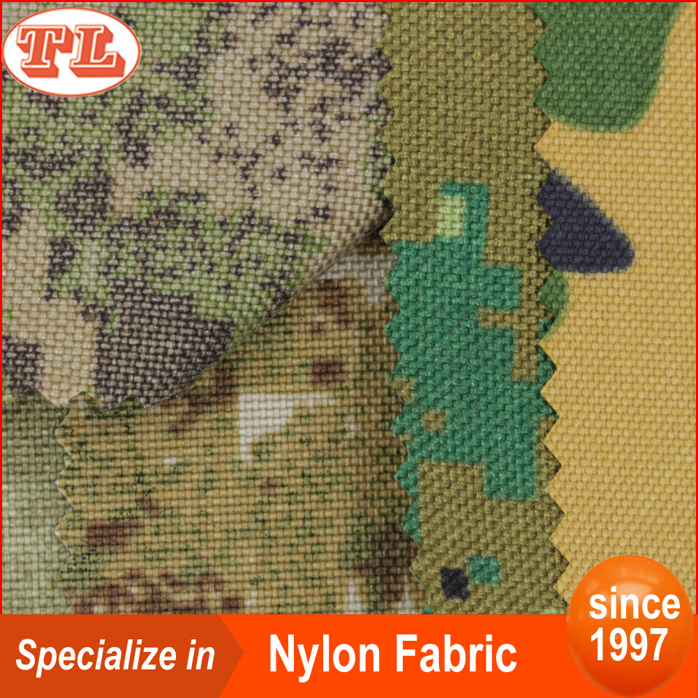 military camo fabric 1000D camouflage cordura nylon fabric waterproof pu coated fabric