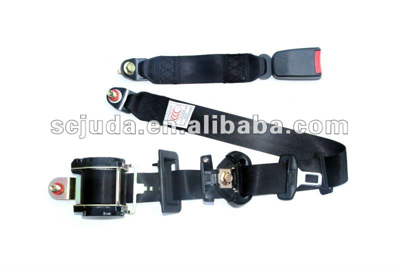 vehicle safety belts with emergency locking function