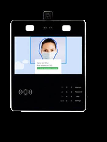 Built-in Camera proactive facial recognition access control temperature measurement system
