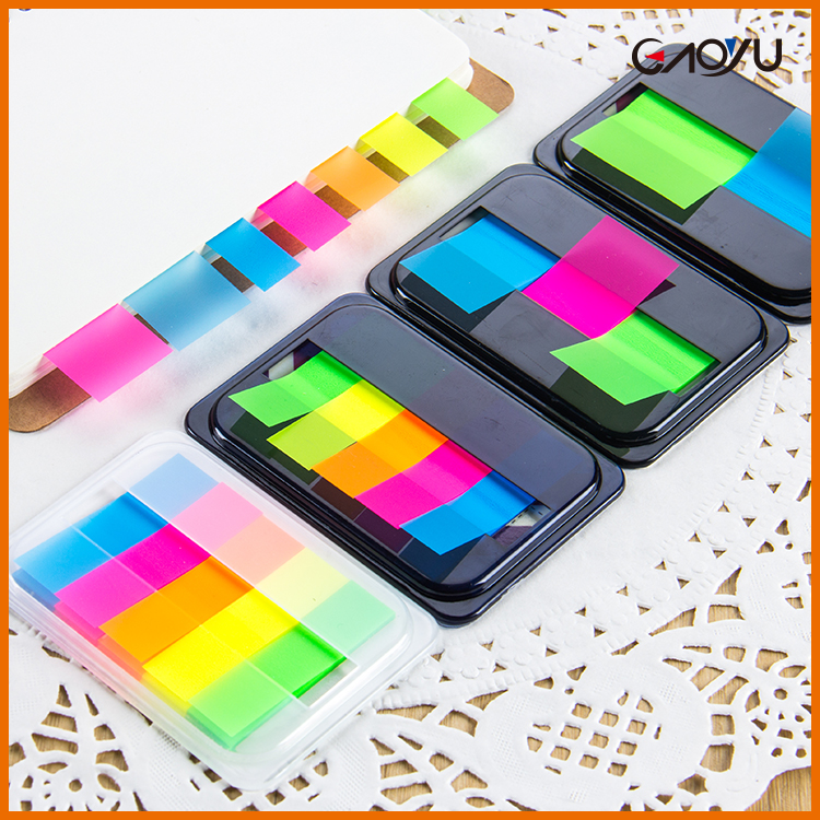 Sticky Page Markers color PET index Colorful Translucent mini flag Fluorescent index