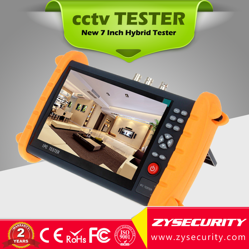 zysecurity 7 inch Touch Screen cctv Tester, 4in1( IP AHD TVI Analog camera ) CCTV Tester