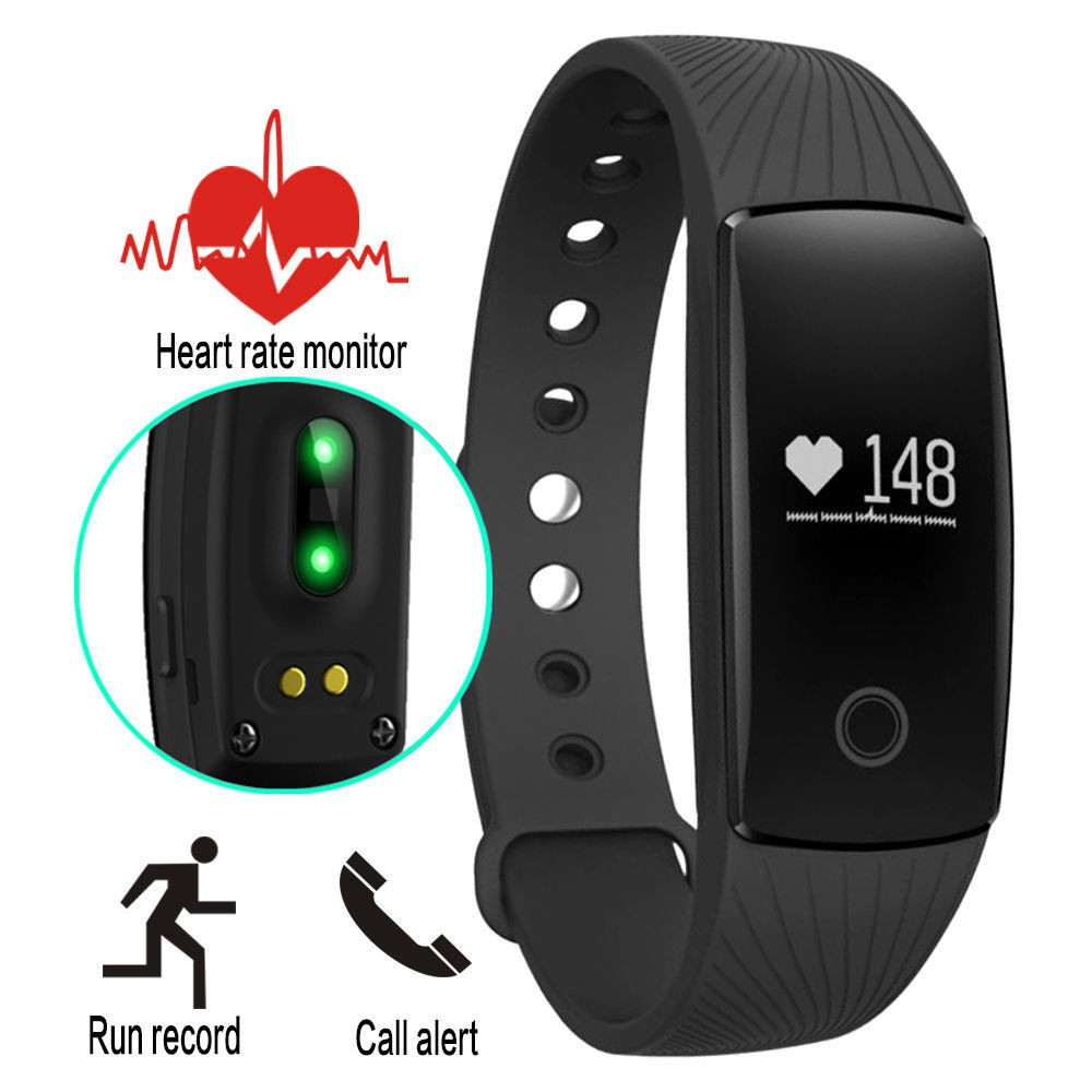 Original Smart Band ID107 Bluetooth Smart Wristband Heart Rate Monitor Fitness Tracker Pedometer Pul