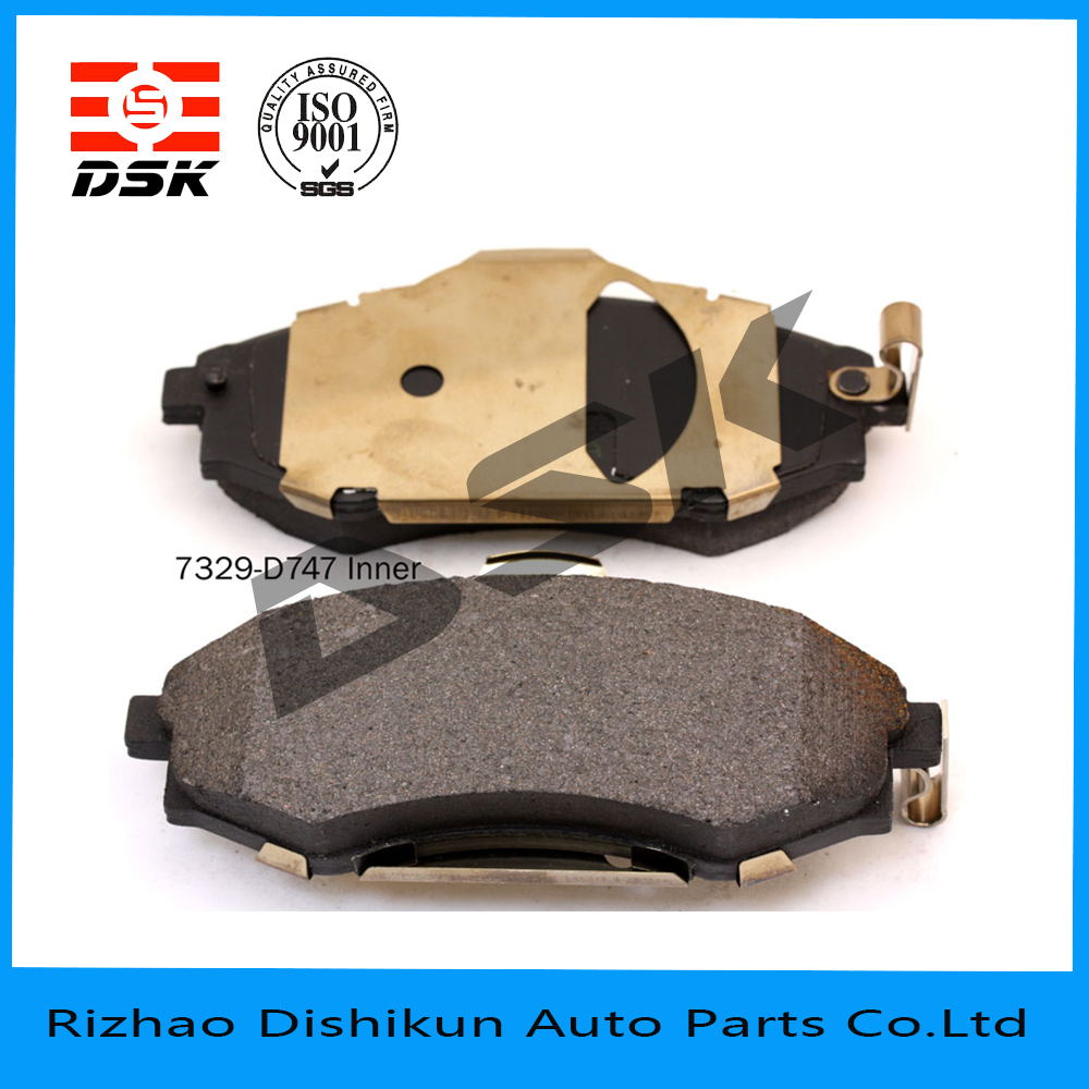 high quality and low noise auto part brake pad d747-7329