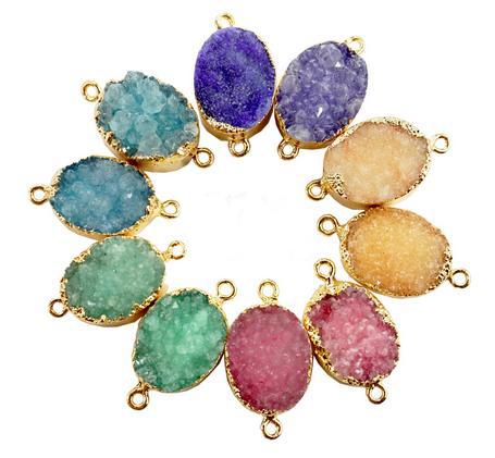 Beautiful fall colored natural stone pendants.