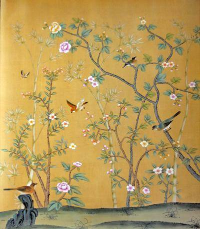 Chinese Hand Painted Wallpaper CHINOISERIE 20