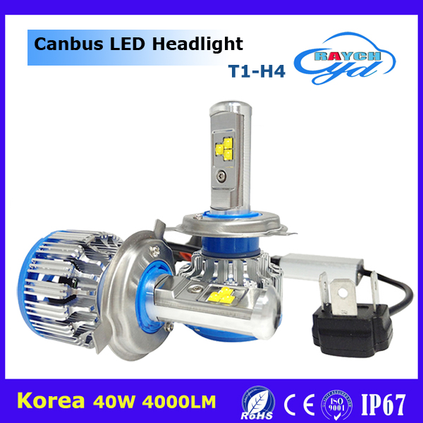 CE Ceritification T1 H4 H13 9004 9007 LED Bulb 80W 40W led car headlight