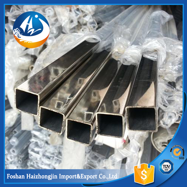 astm a316l thin wall square stainless steel polish pipes