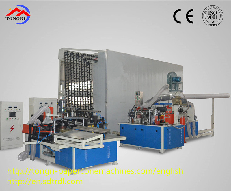 TRZ-2017 lower waste paper rate best quality textile paper cone making machine