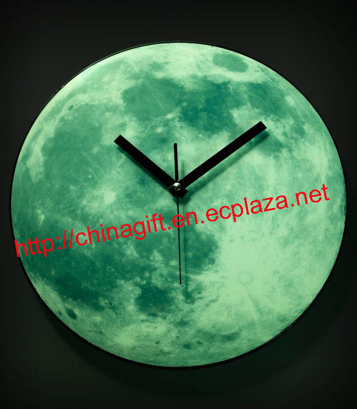 Glow In The Dark Moon Wall Clock