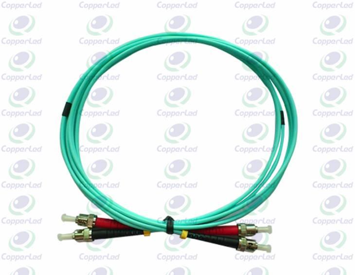 CL-PSTST-O3D Multimode Duplex ST/PC-ST/PC Fiber Optic Patch Cord OM3 3mm