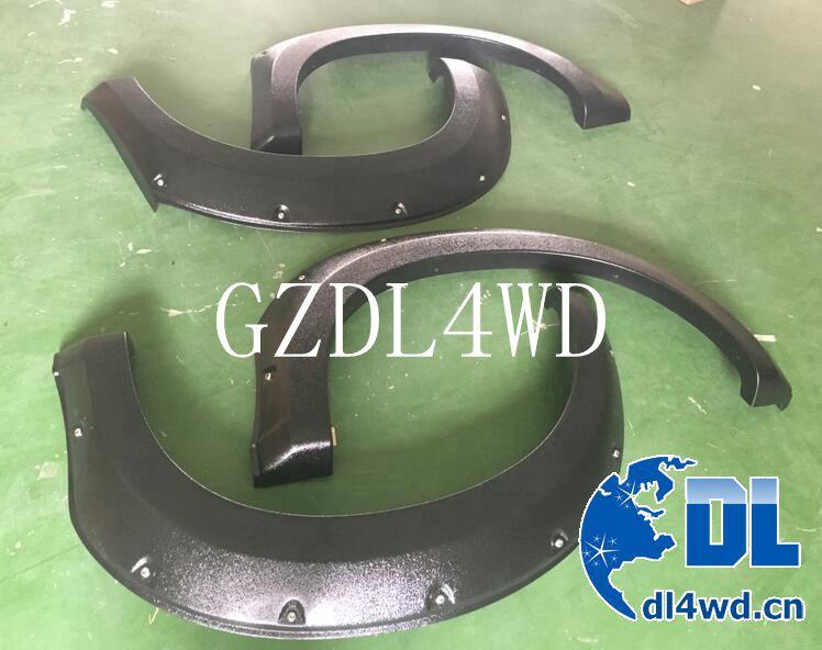 Dmax accessories plastic fender flares for izusu dmax