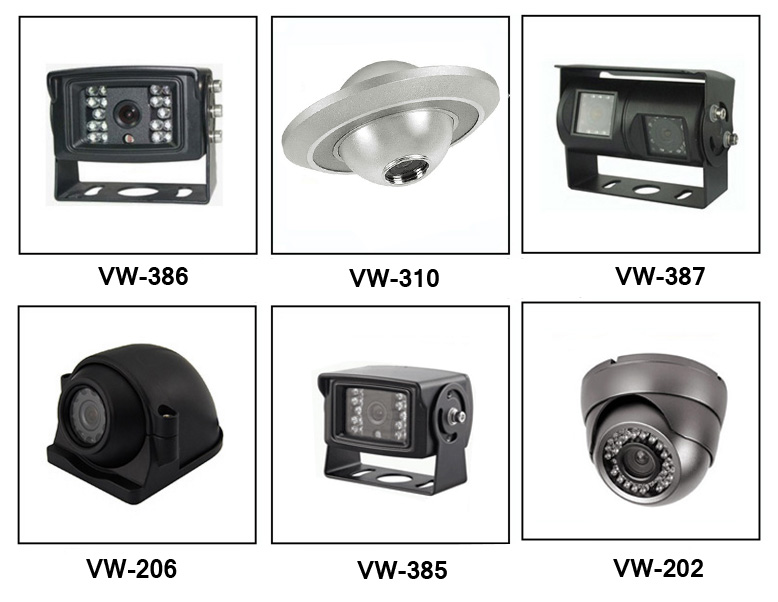 24V CCD / AHD Rear View Bus Surveillance Camera With Good Night Vision , Waterproof