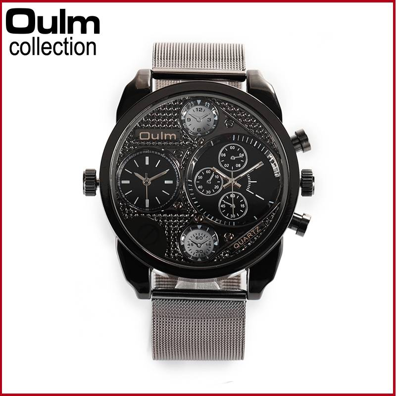 Hotsale alloy japan movt quartz men watch ht9316 oulm watch factory for Celebrity quartz watch japan movt