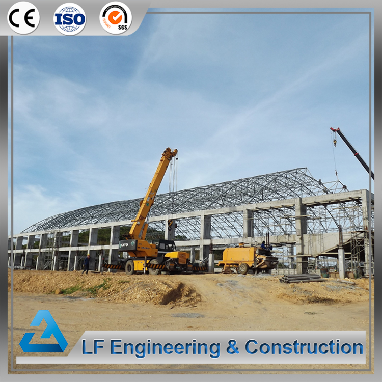 Long span space frame steel swimming pool roof