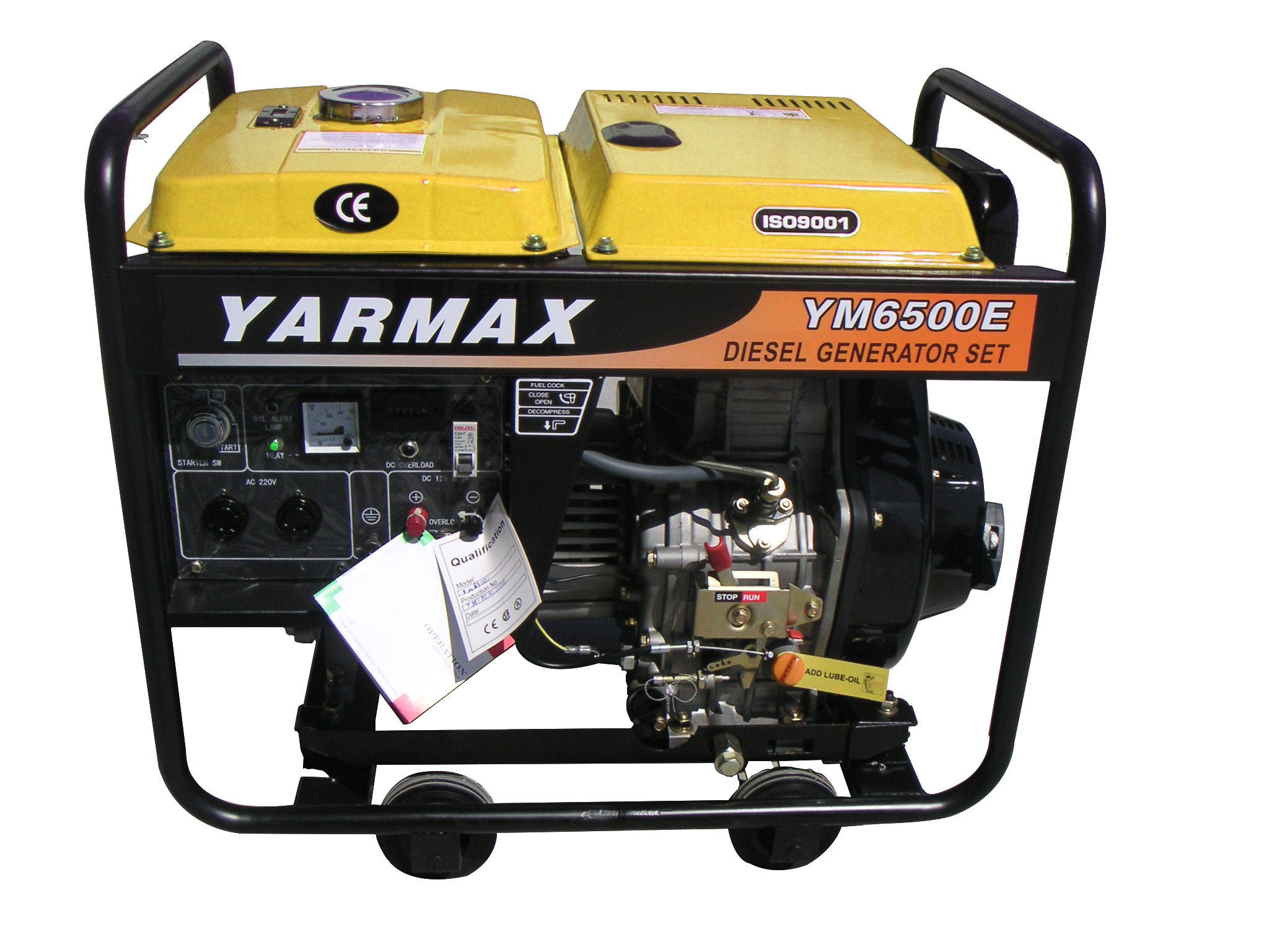 4 8kVA Open Type Air Cooled Diesel Generators Changzhou Yarmax