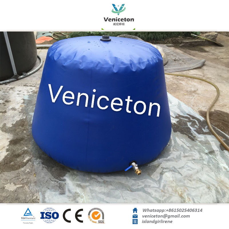 100L-10000L soft PVC fabric foldable onion type rainwater container in China