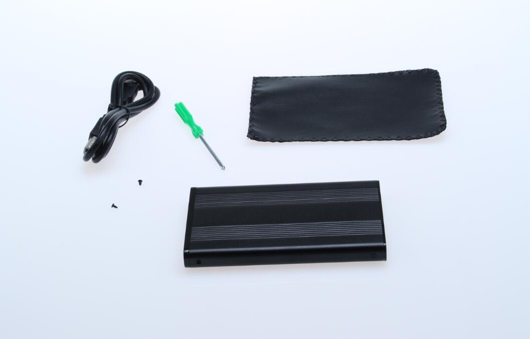 """HDD enclosure USB2.0 SATA case 2.5"""" aluminum with screw"""