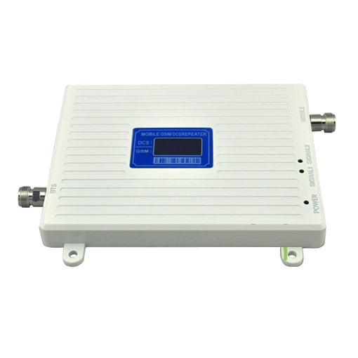 DCS 1800MHz GSM 900Mhz Dual Band Signal Booster , GSM DCS 2G 4G Mobile Phone Signal Repeater + 12v P