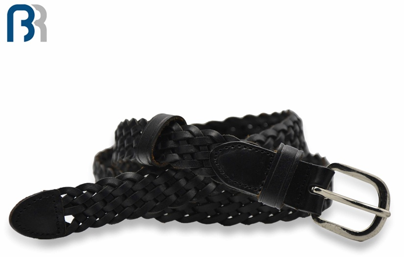 Ladies Braided Leather Belt