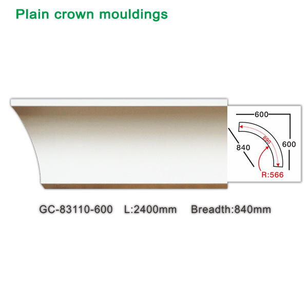 2017 new polyurethane crown moulding for interior decoration