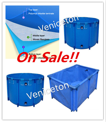 Veniceton high quality and hot-sale fish farming tanks,flexible and foldable PVC tarpaulin for sale