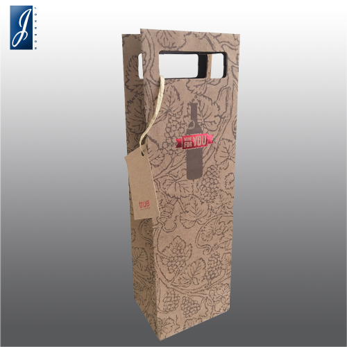Customized brwon kraft wine shopping paper bag for REPETTO
