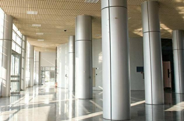 Interior and exterior aluminum cladding of column covering - Interior exterior building supply ...