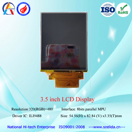 hot selling 3.5 inch OEM tft lcd display with spi/mpu/rgb interface