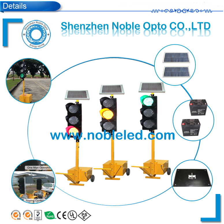 New Portable Traffic Light with Solar Panel