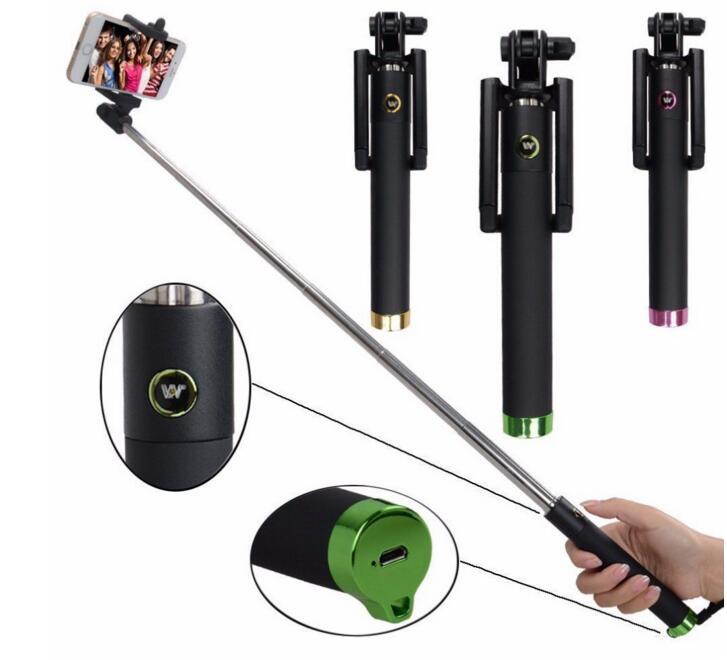 Folding Extendable Handheld Self portrait Monopod selfie stick generation 3 Bluetooth monopod