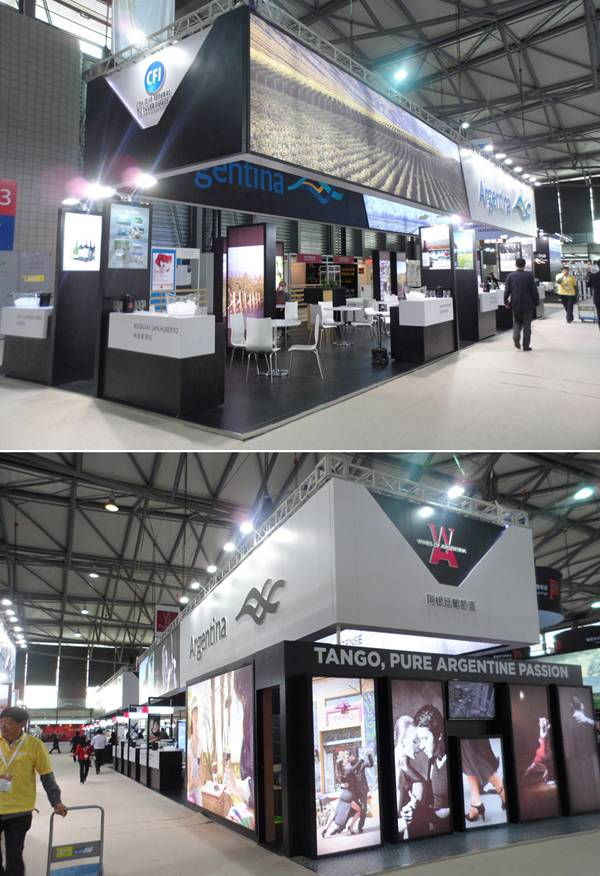 Exhibition Stand Builders China : Exhibition stand builder for wines of argentina pavilion
