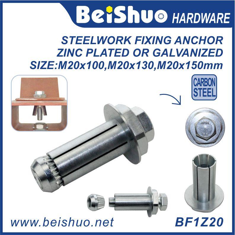BF1Z20 M20 Galvanized & Zinc External Hex Expansion Flange Bolt
