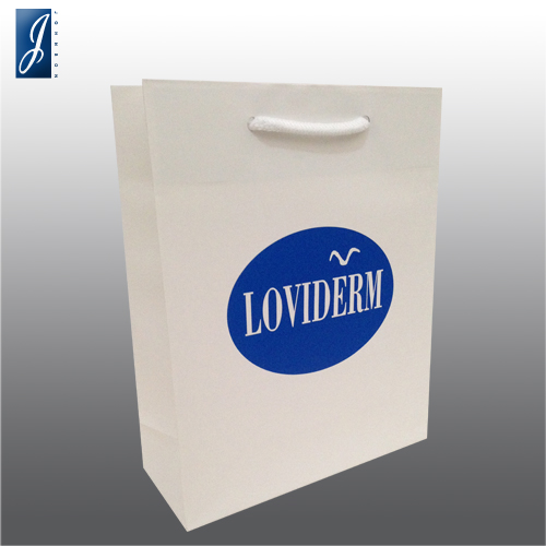 Customized small promotional paper bag for LOVIDERM