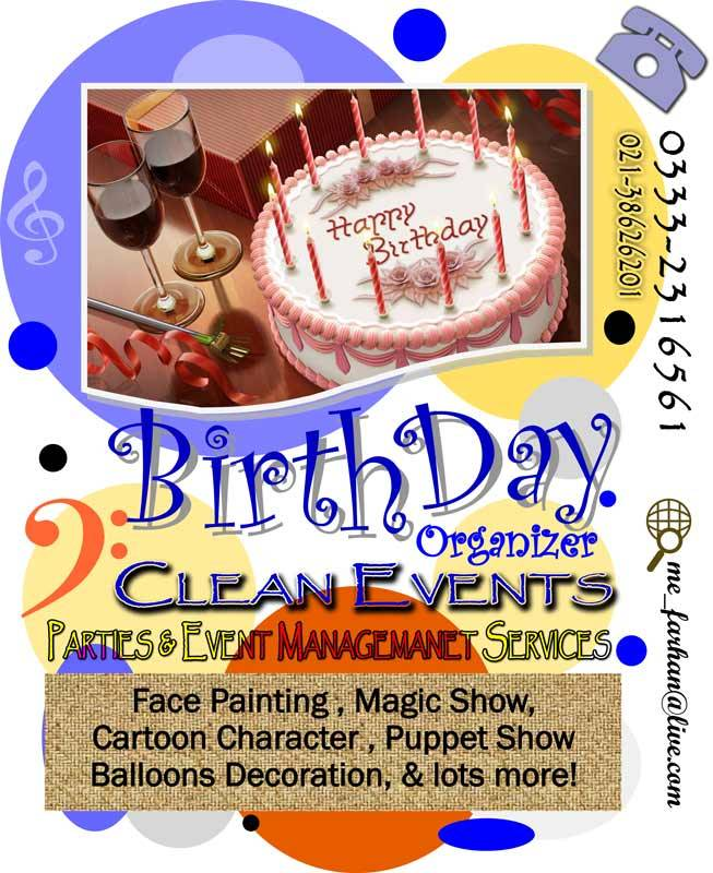 Birthday organizer karachi, Birthday parties arrangment & event ...