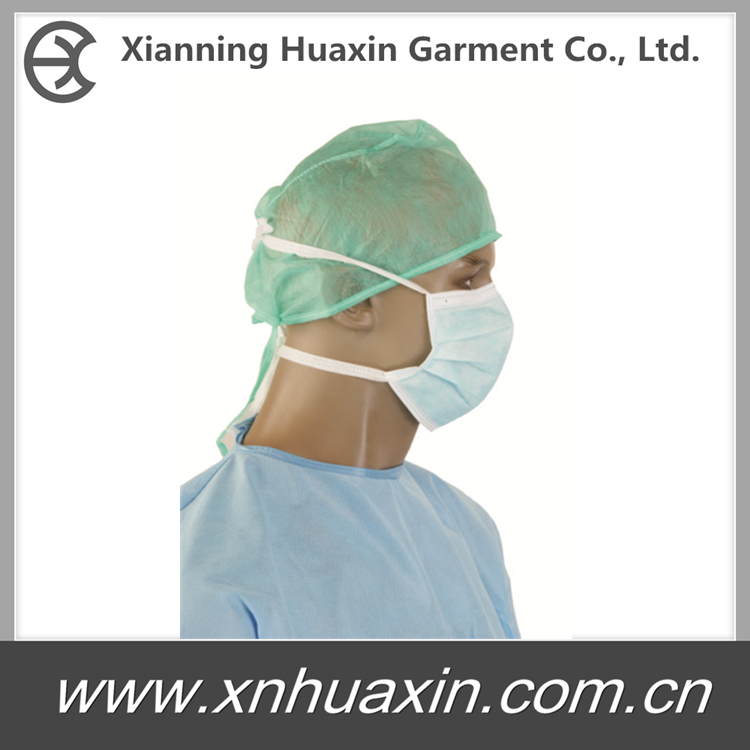 HXM-02:Face Mask 3 Ply with Tie