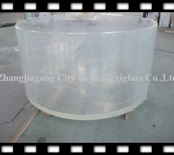 Cylinder fish tank cylinder aquarium leyu plexiglass co for Cylindrical fish tank