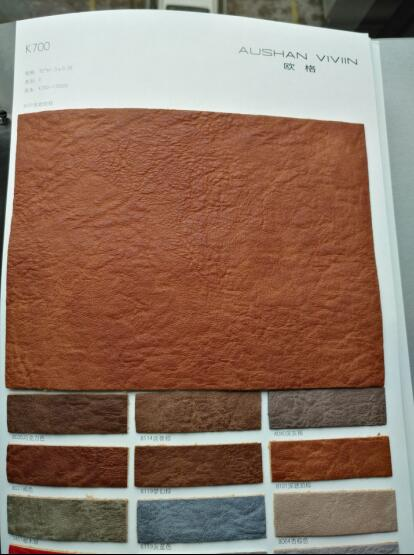 New Design PU Leather for Bags Leather Keychainpu Synthetic Flock Embossed Sofa Leather K700